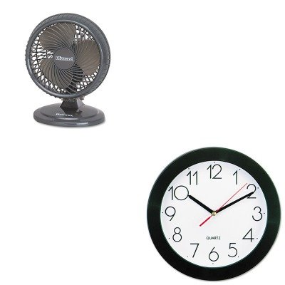 KITHLSHAOF87BLZUCUNV10421 - Value Kit - Holmes Lil' Blizzard 7amp;quot; Two-Speed Oscillating Personal Table Fan (HLSHAOF87BLZUC) and Universal Round Wall Clock (UNV10421)