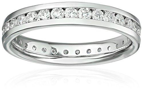 14k White Gold Diamond Channel Eternity Ring (1cttw, H-I ...