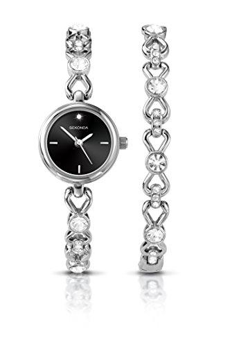 Sekonda-reloj-para-mujer-de-cuarzo-con-esfera-analgica-y-pulsera-de-plata-de-2192-G