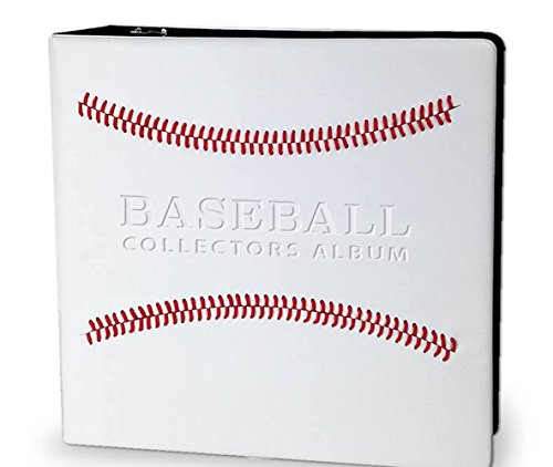 White Baseball Card Collectors Albums