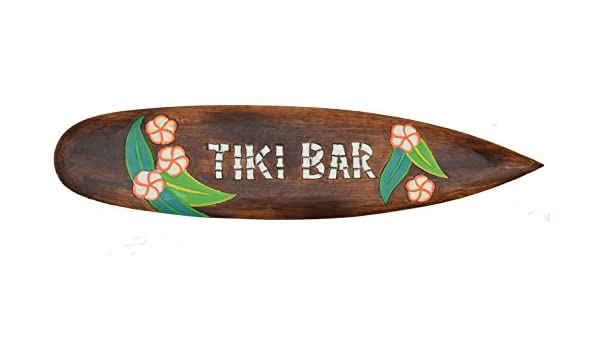 Tiki Bar Tabla de Surf 100 cm Hawaii Decoración colgar Maui kaui 40263 Surf: Amazon.es: Hogar