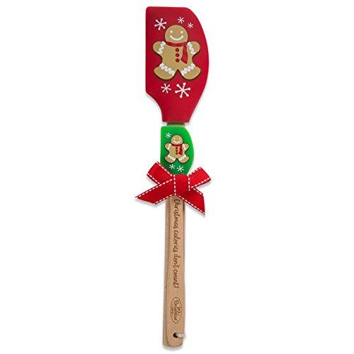 Brownlow Gifts Buddies 2-Piece Spatula Set, Gingerbread Man Gingerbread Man Gift Set