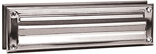 Salsbury Industries 4045C Mail Slot, Standard/Magazine Size, Chrome Finish - Magazine Mail Slot