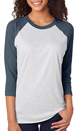next-level-apparel-6051-unisex-tri-blend-3-by-4-sleeve-raglan-indigo-heather-white-extra-large