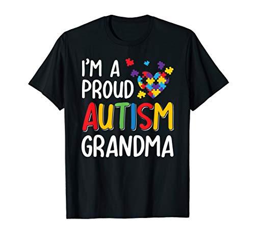 Im A Proud Autism Grandma Autism Awareness T-Shirt