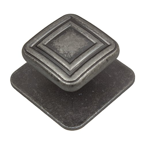 GlideRite Hardware 911178-AP-10 Square Industrial Cabinet Knobs, 10 Pack, 1.375