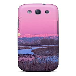 Premium Tpu Swamp In Winter Under A Moon Cover Skin For Galaxy S3