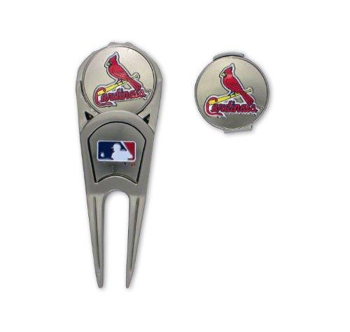 St. Louis Cardinals Golf Mark, Repair Tool & Hat Clip Combo