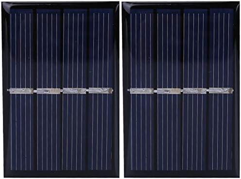 Dgtrhted 2V 0.28W Mini Sonnenkollektor-Ladegerät Polykristalline Silizium Außenladestromversorgung