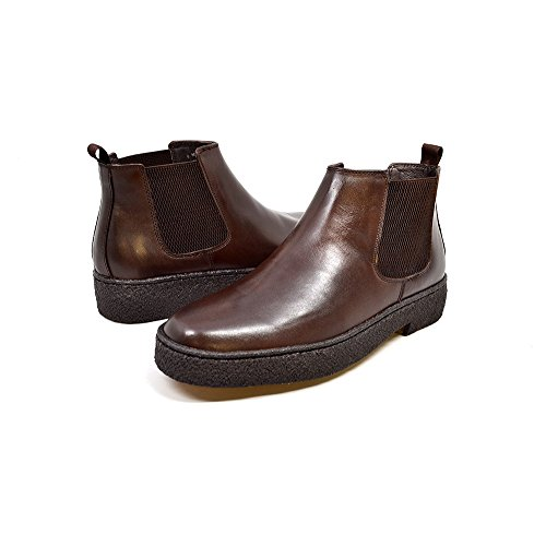 Original Leather Jump Boot (British Collection - Original Playboy Soho Leather Brown Slip-On 14)