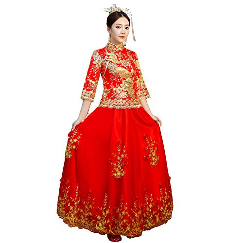 Shanghai Story Chinese Wedding Suit Qipao Style Dress Cheongsam Xiuhe Set M Red