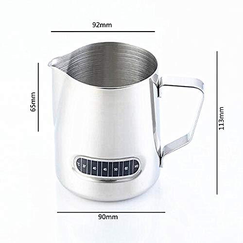 Milk Frothing Pitcher With Integrated Thermometer, Latte