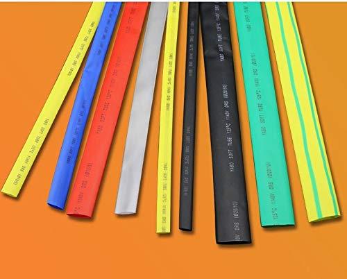FidgetFidget Φ50mm 2:1 Heat Shrink Tubing Sleeving Cable Electrical Wrap Tube 7 Colors 1-20M Yellow 5M