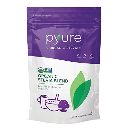 Pyure Organic All-Purpose Blend Stevia Sweetener, Sugar Substitute, 2.5 lb (40 oz)