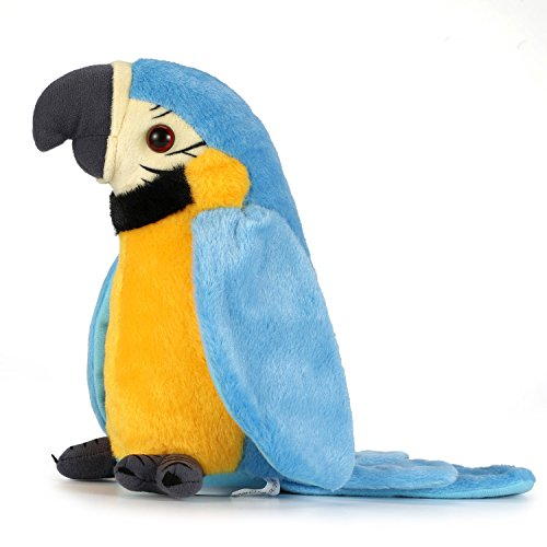 Repeat The Parrot, Talk to The Parrot, Talk to The Bird, Repeat Everything You say, Children's Gifts Electric Plush Toys, Educational Toys, Plush Toys.