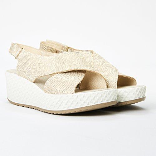 Enval 7999100 Sandalo Donna Pelle Platino