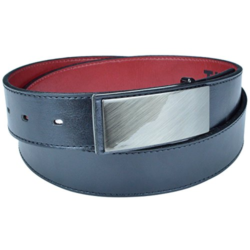 Cruelty Free Dress Belts for Men, Genuine Non Leather Belt with Flat Belt Buckle, Vegan Belt Made with Environmentally Friendly Products, Truth Tilikum (Black, 32)