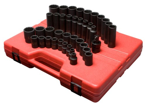 1/2' Metric Deep Impact Socket - Sunex 2699 1/2-Inch Drive 12-Point Metric Master Impact Socket Set, 39-Piece
