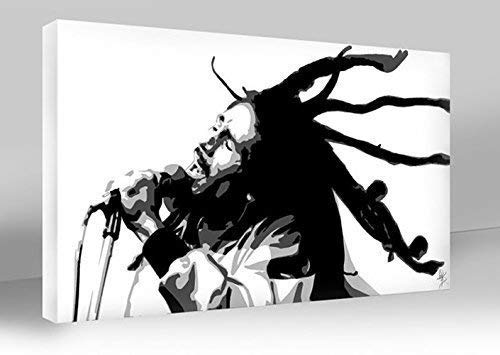 BOB MARLEY LTD EDITION SIGNED POP ART CANVAS