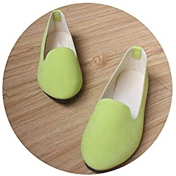 Good Memories Plus Size Shoes Women Flats Candy Color Woman Loafers Spring Autumn Flat Shoes Women Zapatos Mujer Summer Shoes Size 35 43 Light Green 4
