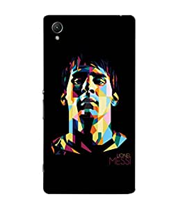 colorking Football Messi Argentina 19 Black shell case cover for Sony Xperia XA1