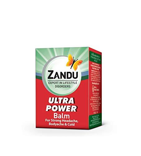 Emami Limited Zandu Balm Ultra Power - 8 Ml. Ayurvedic Remedy for Strong Headache, Body Ache, Cold