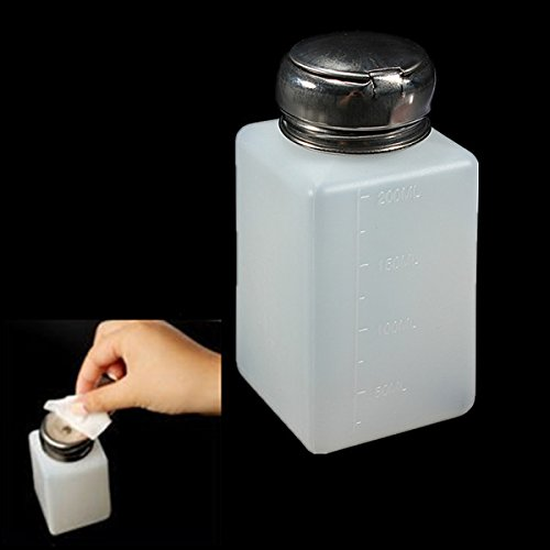 Nail Tools - 200ml Empty Nail Polish Remover Liquid Press Pump Dispenser Bottle - 1PCs