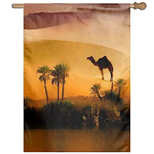 Garden Flag Camel Desert Painting Art Lawn Banner Outdoor Yard Home Flag Wall Decoration Flag 27