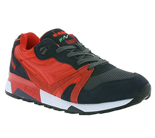 Diadora, Uomo, N9000 Nyl II Rosso Ferr. Italy Nero Fumo, Suede / Mesh, Sneakers, Nero