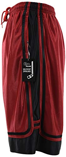 ChoiceApparel Mens Two Tone Training/Basketball Shorts with Pockets (S up to 4XL) (S, ()