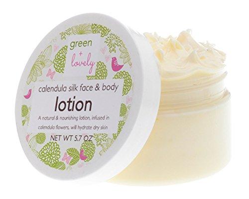Calendula-Silk-Face-Body-Lotion-Herbal-Skin-Cream-Organic-oils-infused-in-Calendula-Healing-Nourishing-Newborn-Safe