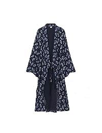 FANCY PUMPKIN Men's Yukata Robes Kimono Robe Khan Steamed Clothing Pajamas