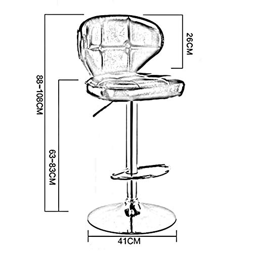 DBL Justerbar mjuk kudde ryggstöd modernt utseende elegant PU-design konferensstol bord hård gummiring pu+ metall skrivbordsstolar (färg: Guld, storlek: Hög del)