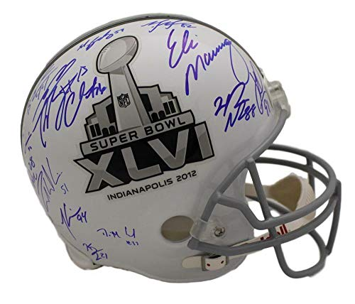 2011 New York Giants Team Signed Replica SB XLVI Helmet 24 Sigs JSA LOA