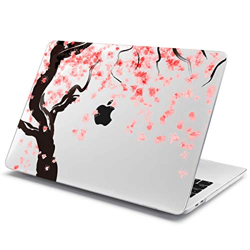 Batianda Case for New MacBook Pro 13 inch with/Without Touch Bar 2018 2017 & 2016 Release Clear Crystal Hard Protective Cover Shell Model:A1989 A1706 / A1708 (Cherry Blossoms)