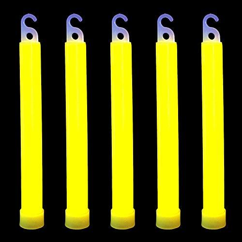 Yellow Glow Sticks - novelinks 50 Pcs 6'' Premium Glow