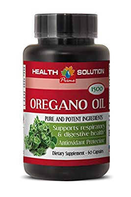 Respiratory health support - PURE OIL OF OREGANO EXTRACT 1500 Mg - Oil extract of Oregano - 1 Bottle 60 Capsules