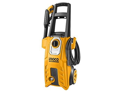 INGCO 1800-WATT High Pressure Washer 150Bar (2200PSI) with TSS Auto Shut Off and 100% Copper Wire Motor With pcs soap bottle &1 set water spray gun &5m high pressure hose 1
