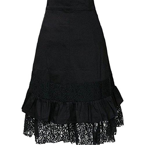 Mujer Punk Rock Gótico Faldas De Encaje Asimétrico Falda