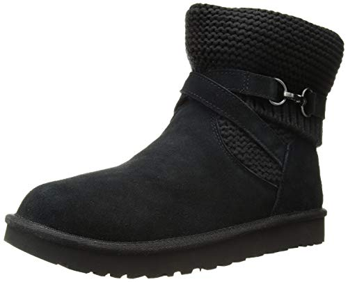 UGG Women's W Purl Strap Boot Fashion, Black, 8 M US