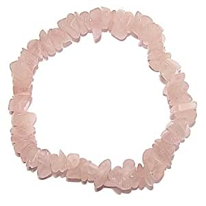 Chip Stone Stretch Bracelet - ROSE QUARTZ
