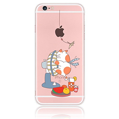 iphone-7-casesunroyal-cartoon-tpu-soft-bumper-and-acrylic-silicone-hard-back-clear-fat-speckled-cat-
