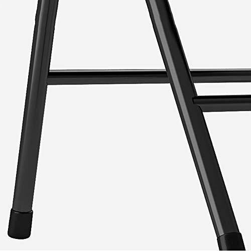 DALL hopfällbar kontorsstol metallram datorbordsstol PU-säte stabil hållbar konferensstol (färg: Röd, storlek: 4 delar)