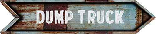 Any and All Graphics DUMP TRUCK Vintage Rustic look Arrow shaped 8
