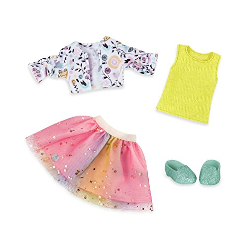 Glittery Shimmer - Glitter Girls by Battat - Shimmer Glimmer Urban Top and Tutu Regular Outfit - 14 inch Doll Clothes and Accessories for Girls Age 3 and Up – Children's Toys