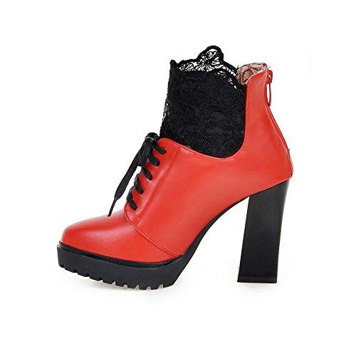 1to9mns02582 - Sandales Compensées Pour Femmes, Rouge (rouge), 35
