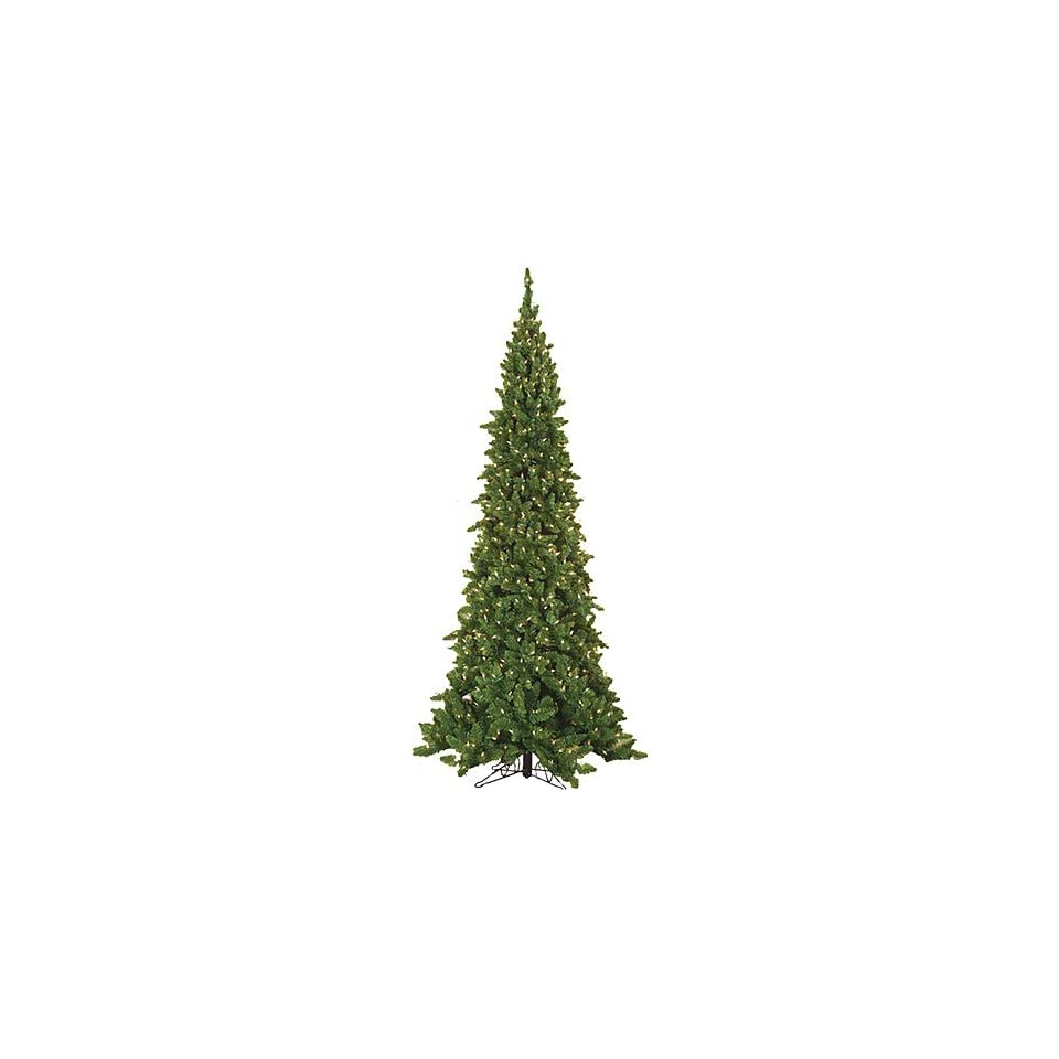 6 Pencil Pointed Spruce Artificial Christmas Tree with Clear Lights