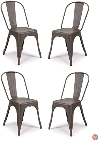 Set of 4 Tolix Style Metal Chair