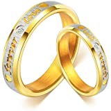 Yellow Chimes Love Forever 18K Gold Plated Proposal Couple Rings for Girls and Boys. Perfect for Couple!