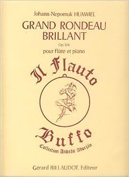 Book HUMMEL - Gran Rondo Brillante Op.126 para Flauta y Piano (Adorjan)